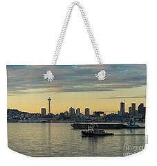 Seattles Working Harbor Weekender Tote Bag by Mike Reid