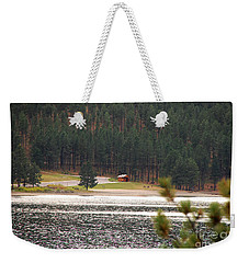Weekender Tote Bag featuring the photograph Secluded Cabin by Mary Carol Story