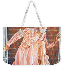 Weekender Tote Bag featuring the painting Secret Passage by Bryan Bustard
