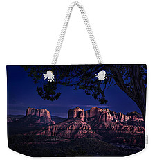 Sedona Cathedral Rock Post Sunset Glow Weekender Tote Bag