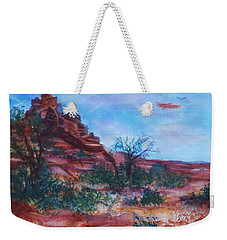 Sedona Red Rocks - Impression Of Bell Rock Weekender Tote Bag by Ellen Levinson