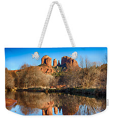Sedona Winter Reflections Weekender Tote Bag by Fred Larson