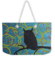 Weekender Tote Bag featuring the painting Seer by Jacqueline McReynolds
