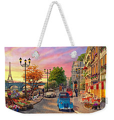 Seine Sunset Weekender Tote Bag