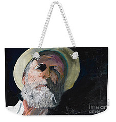Weekender Tote Bag featuring the painting Self Portrait  by Brian Boyle