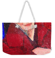 Weekender Tote Bag featuring the painting Self-portrait by Donald J Ryker III