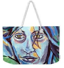 Weekender Tote Bag featuring the painting Self Portrait by Helena Wierzbicki