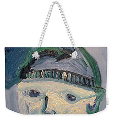 Self Portrait In Blue And Green Weekender Tote Bag