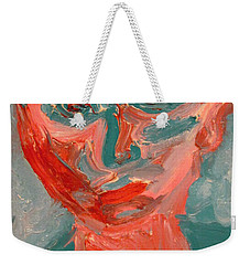 Self Portrait In Turquoise And Rose Weekender Tote Bag