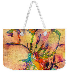 Springtime Floral Abstract Weekender Tote Bag