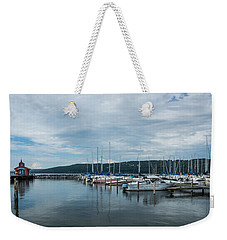 Seneca Lake Harbor - Watkins Glen - Wide Angle Weekender Tote Bag by Photographic Arts And Design Studio