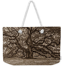 Sepia Angel Oak Weekender Tote Bag