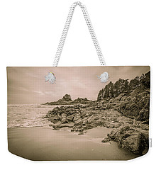 Cox Bay Sepia Weekender Tote Bag by Roxy Hurtubise