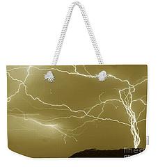 Sepia Converging Lightning Weekender Tote Bag