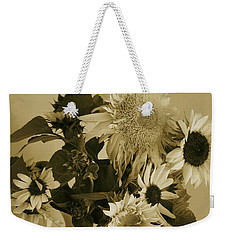 Sepia Garden Sunflower Bouquet Weekender Tote Bag