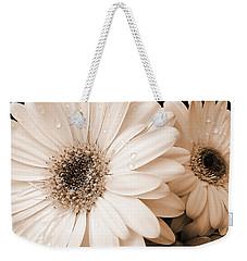 Sepia Gerber Daisy Flowers Weekender Tote Bag