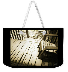 Weekender Tote Bag featuring the photograph Sepia - Nature Paws In The Snow by Absinthe Art By Michelle LeAnn Scott