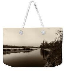 Sepia River Weekender Tote Bag