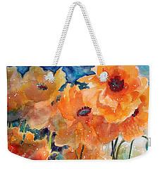 September Orange Poppies            Weekender Tote Bag