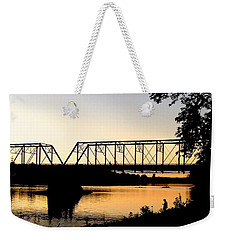 September Sunset On The River Weekender Tote Bag