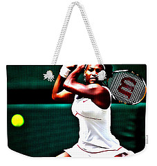 Serena Williams 3a Weekender Tote Bag by Brian Reaves
