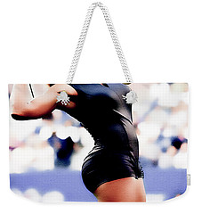 Serena Williams Catsuit Weekender Tote Bag by Brian Reaves