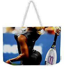 Serena Williams Catsuit II Weekender Tote Bag by Brian Reaves