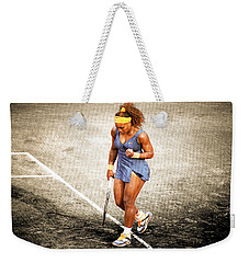 Serena Williams Count It Weekender Tote Bag by Brian Reaves