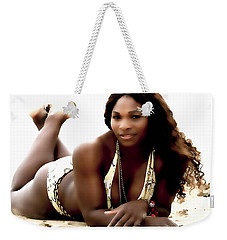 Serena Williams In The Sand Weekender Tote Bag by Brian Reaves