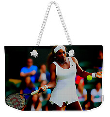 Serena Williams Making It Look Easy Weekender Tote Bag by Brian Reaves