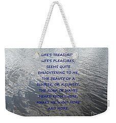 Serene Water Weekender Tote Bag by Joseph Baril