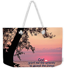 Serenity Weekender Tote Bag by Aimee L Maher Photography and Art Visit ALMGallerydotcom
