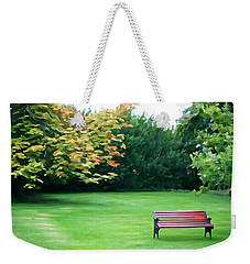 Weekender Tote Bag featuring the photograph Serenity by Charlie and Norma Brock