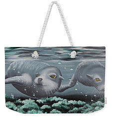 Weekender Tote Bag featuring the painting Serenity by Dianna Lewis