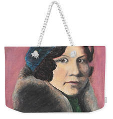 Weekender Tote Bag featuring the painting Serenity by Jeanne Fischer