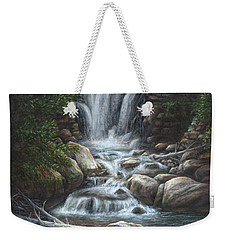 Weekender Tote Bag featuring the painting Serenity by Kim Lockman