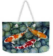 Serenity Koi Weekender Tote Bag by Hailey E Herrera