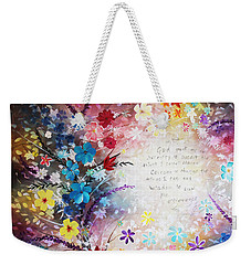 Serenity Prayer Weekender Tote Bag by Patricia Lintner