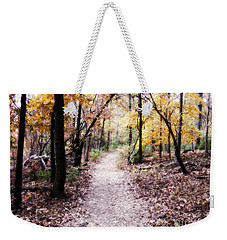Weekender Tote Bag featuring the photograph Serenity Walk In The Woods by Peggy Franz