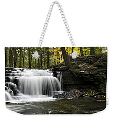 Weekender Tote Bag featuring the photograph Serenity Waterfalls Landscape by Christina Rollo
