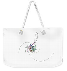 Weekender Tote Bag featuring the digital art Serpentins Quaternioniques by Marc Philippe Joly
