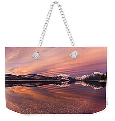Setting On Glacier Weekender Tote Bag