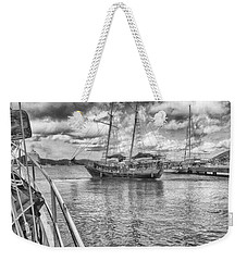 Weekender Tote Bag featuring the photograph Setting Sail by Howard Salmon