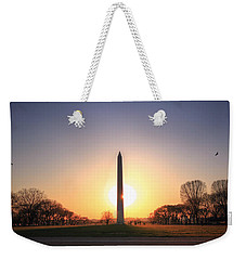 Setting Sun On Washington Monument Weekender Tote Bag
