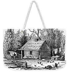 Settler's Log Cabin - 1878 Weekender Tote Bag