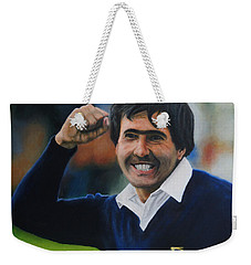 Seve Ballesteros Oil On Canvas Weekender Tote Bag