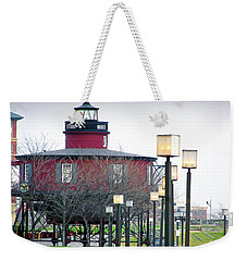 Weekender Tote Bag featuring the photograph Seven Foot Knoll Lighthouse by Brian Wallace