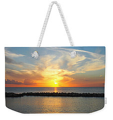 Seven Mile Sunset Over Grand Cayman Weekender Tote Bag by Amy McDaniel