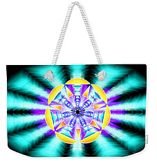 Weekender Tote Bag featuring the drawing Seventh Ray Of Consciousness by Derek Gedney