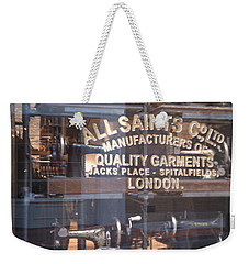 Weekender Tote Bag featuring the photograph Sew What by Carol Lynn Coronios